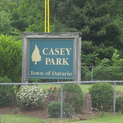 Casey Park - sign at front of park