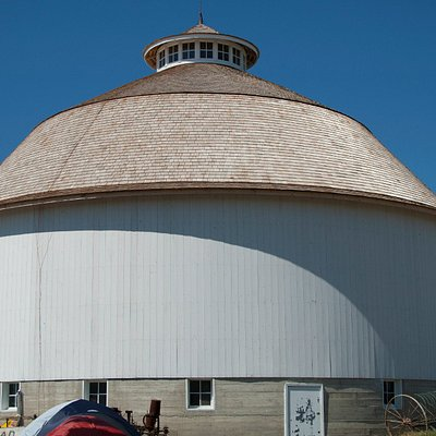 Newly restored round barn at the Fulton County Historical Society