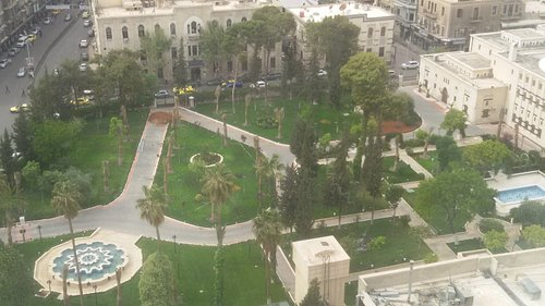 The Gardens of the Parliament from the Sham Palace Hotel.