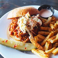 Pulled Chicken Sandwich with Fries