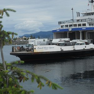 Ferry approaching Campbell River Terminal.