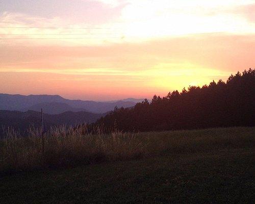 Il panorama  in direzione sud ovest all'osservatorio astronomico di Monteromano