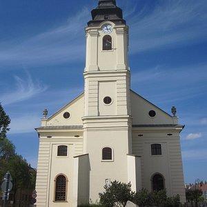 Facade of the Evangelikus O-Templom (Old Evangelical Church)