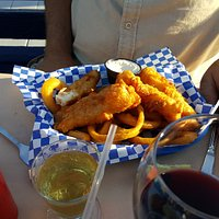 Fish and chips (substituted onion rings for chips)