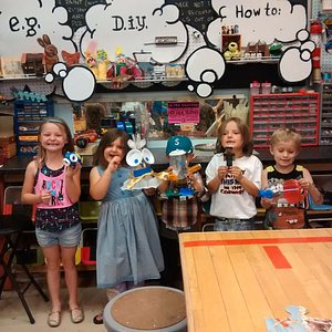My silly kid party and some of the goodies they made with the tinker supplies.