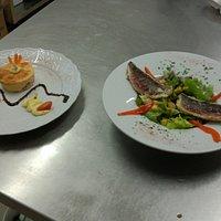 Terrine de truite et salade de rouget ail et huile d'olive