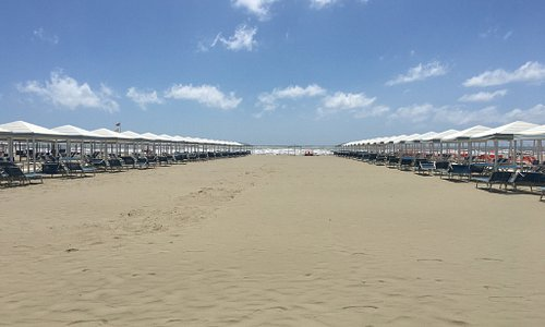 La spiaggia del Bagno Stella di Focette