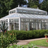 Greenhouse in the gardens