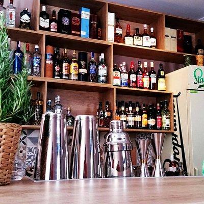 Interior bar counter