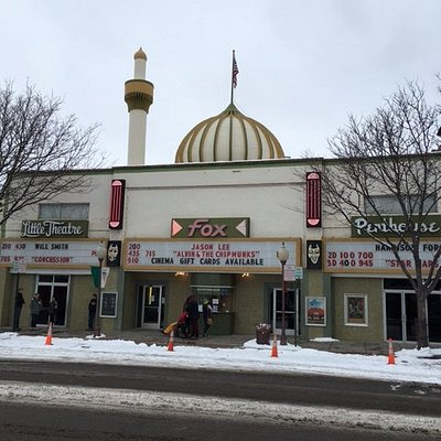 From view of Fox Theatre in Winter