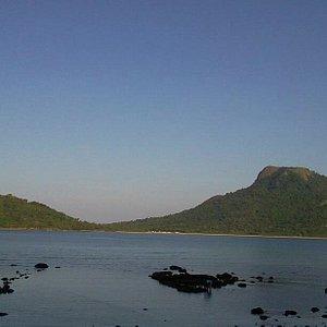 "The profile of the island is like the head of a crocodile half submerged, thus the name ""BUAYA"""