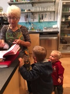 Delightful Pam being admired by our boys!