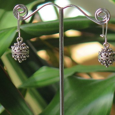 sterlin silver earrings made in traditional croatian style