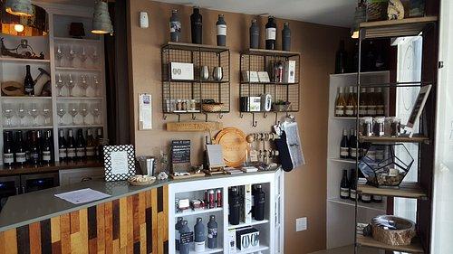 The intimate tasting room