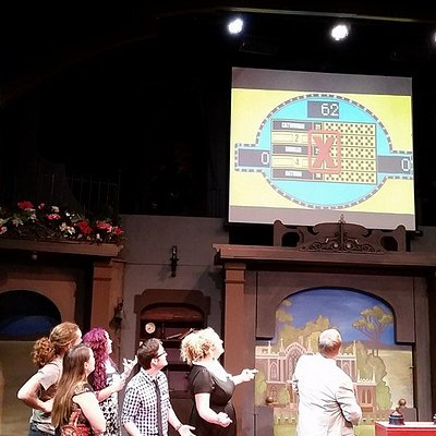 What's the score? It's another night of Merced Feud at Playhouse Merced.