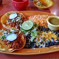 Lunch special of the day - Al Pastor tacos - wonderful plate!