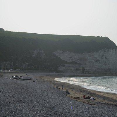 la spiaggia e la falesia