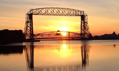 Sunrise over Lake Superior, Duluth, Minnesota