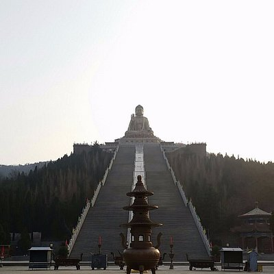 Walking up the the Temple