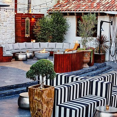 Le Jardin LA, French-inspired garden oasis in Hollywood located at 1430 N Cahuenga Blvd.