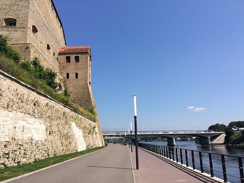 Right below Narva castle