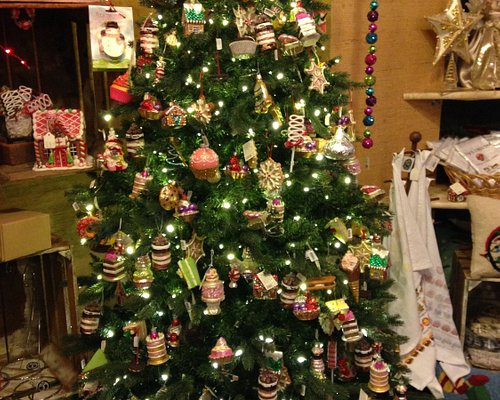 One of many decorated trees