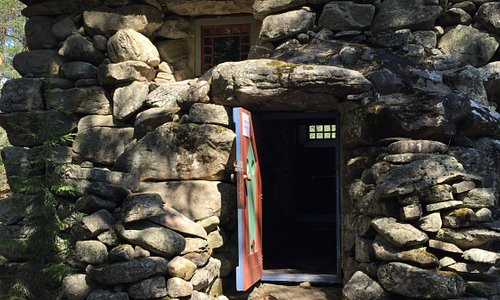 The stone castle is open for the public in the summer time