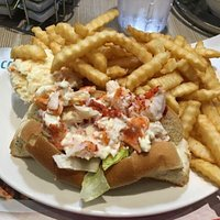 Lobster roll at the New Aulac Big Stop ❤️❗️
