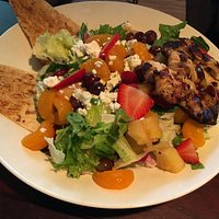 Chicken and fruit Salad.