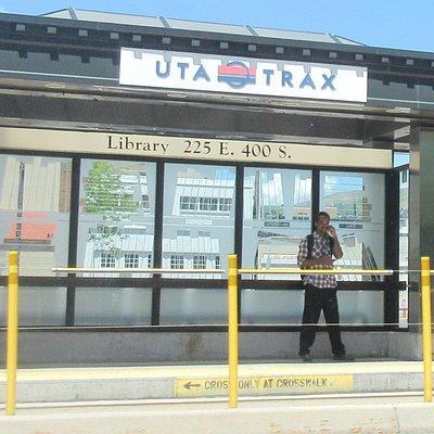 Trax Light Rail System Stop, Salt Lake City, Utah