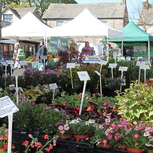 Plenty of locally produced food and also craft, plants and local flowers