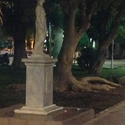 One of the square's statue