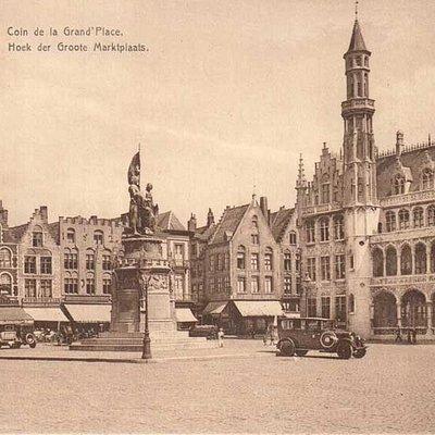 Брюгге памятник Питеру де Конинку и Яну Брейделю