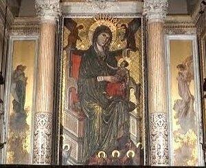 Quadro raffigurante la Madonna di Montevergine