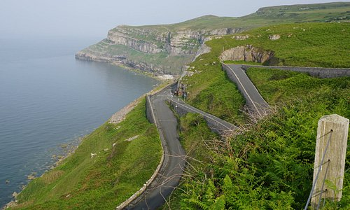 Driving from the cable car station down to the east side of Great Orme