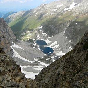 """Il Lago di Pilato e l'omonima valle visto da """"Cima del Lago"""".  Foto di Giovanni Fusco"""
