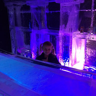 Stand in an ice cabin and even sit down on the the ice chairs at the ice table