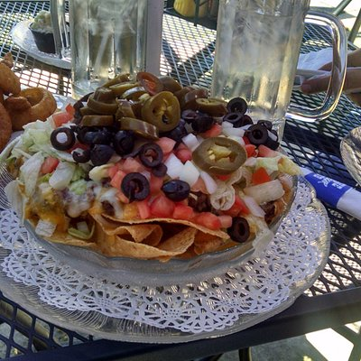 This is the small nachos! More than I could eat.
