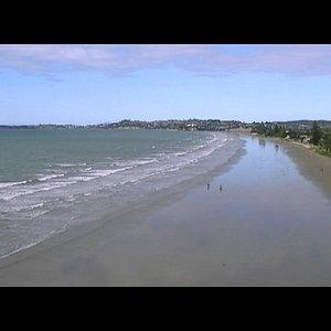 View facing South, along Orewa Beach