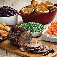 Tasty meat and fresh seasonal veg