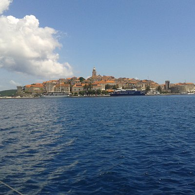 Korcula Town viewed from the sea