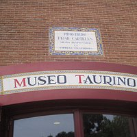 The museum entrance on one side of the Madrid bullring, Las Ventas