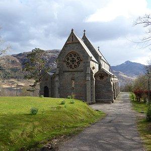 Glenfinnan Church perched on the hill