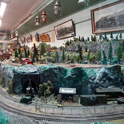 Panoramic View of Large Model Train Layout, Done by Volunteers