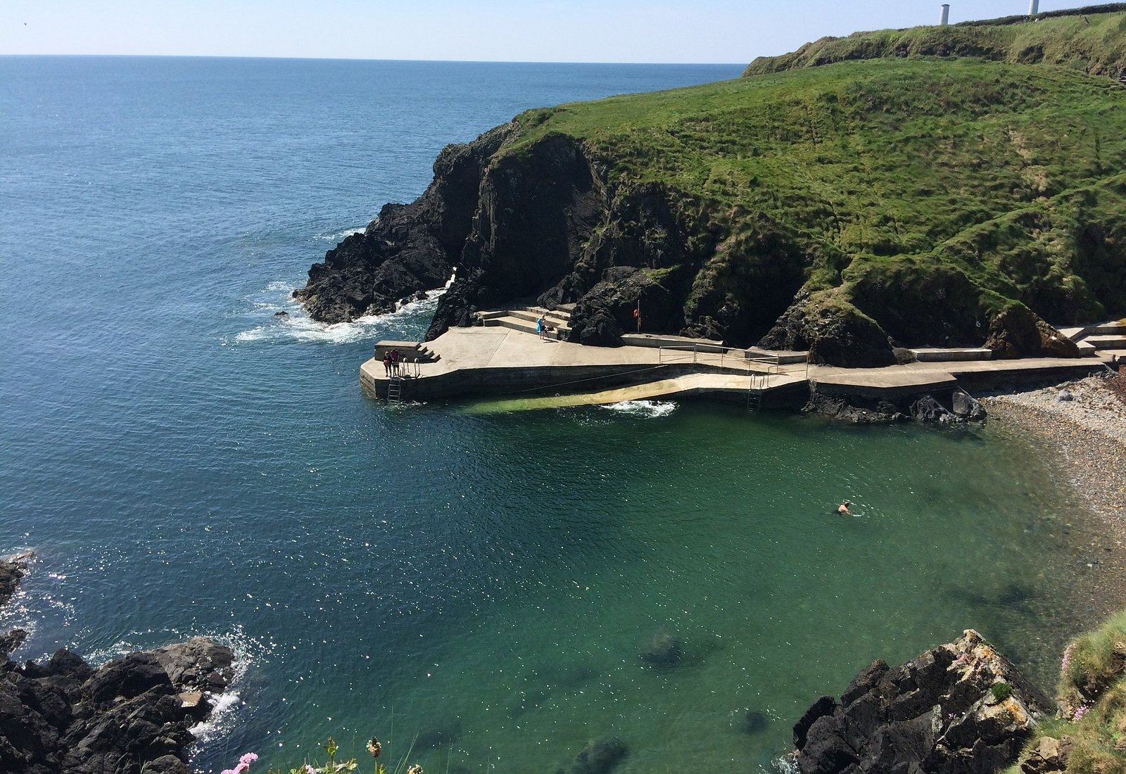 Newtown Cove, Tramore. One of the nicest spots for swimming you could ever come across