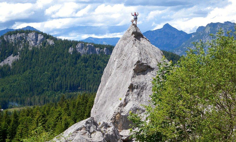 Kl- Matterhorn im Salzkammergut bei Bad Goisern: nur Geübten Kletterern zu empfehlen!
