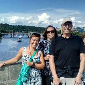 Henry, Susan & Ruth on The Charles Bridge