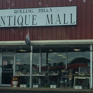 Varied selection of antiques.  Posters, glassware, furniture and related items.  Right on main e