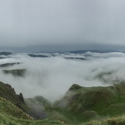 Panorama toward the valley beneath Korab