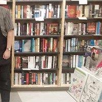 Bookshelf at Compass Books in SFO
